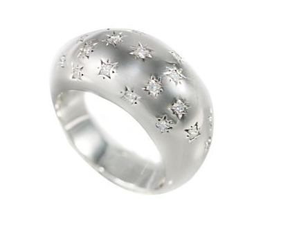 Bague jonc diamants
