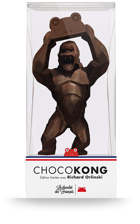 richard-orlinski-statue-kong-chocolat-1